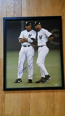 ALEX RODRIGUEZ SIGNED 16X20 PHOTO FRAME W JETER 2004 OPENING DAY JAPAN STEINER  ()