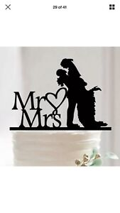 Mr and Mrs Cake Topper for Wedding Engagement or Bridal Party