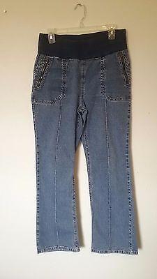 Women's Motherhood Maternity jeans, size Medium, denim pants -18