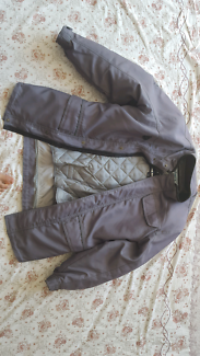 Jacket wind and water proof + Helmut  and gloves