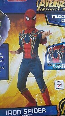 Iron Spider Man Padded Avengers Costume Boys 700261 - Spider Man Avengers Kostüm