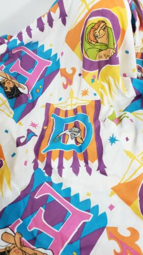 Disney The Hunchback of Notre Dame Esmeralda Twin Fitted Sheet Vintage Made USA