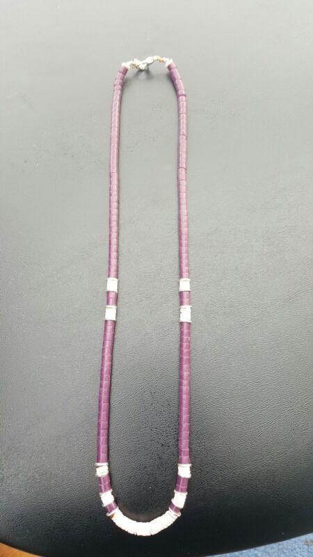 handcrafted navajo purple necklace