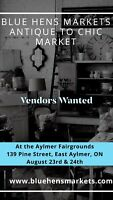 Vendors Wanted - Blue Hens 'Antique to Chic' Market