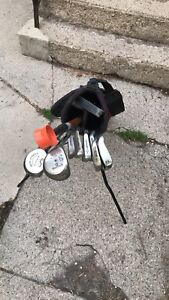 Men's left handed clubs and bag