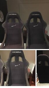 Pair of Cobra Monaco S race seats fixed back Rochedale South Brisbane South East Preview