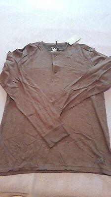 Camiseta negra con botones de hombre marca Lee nueva manga larga