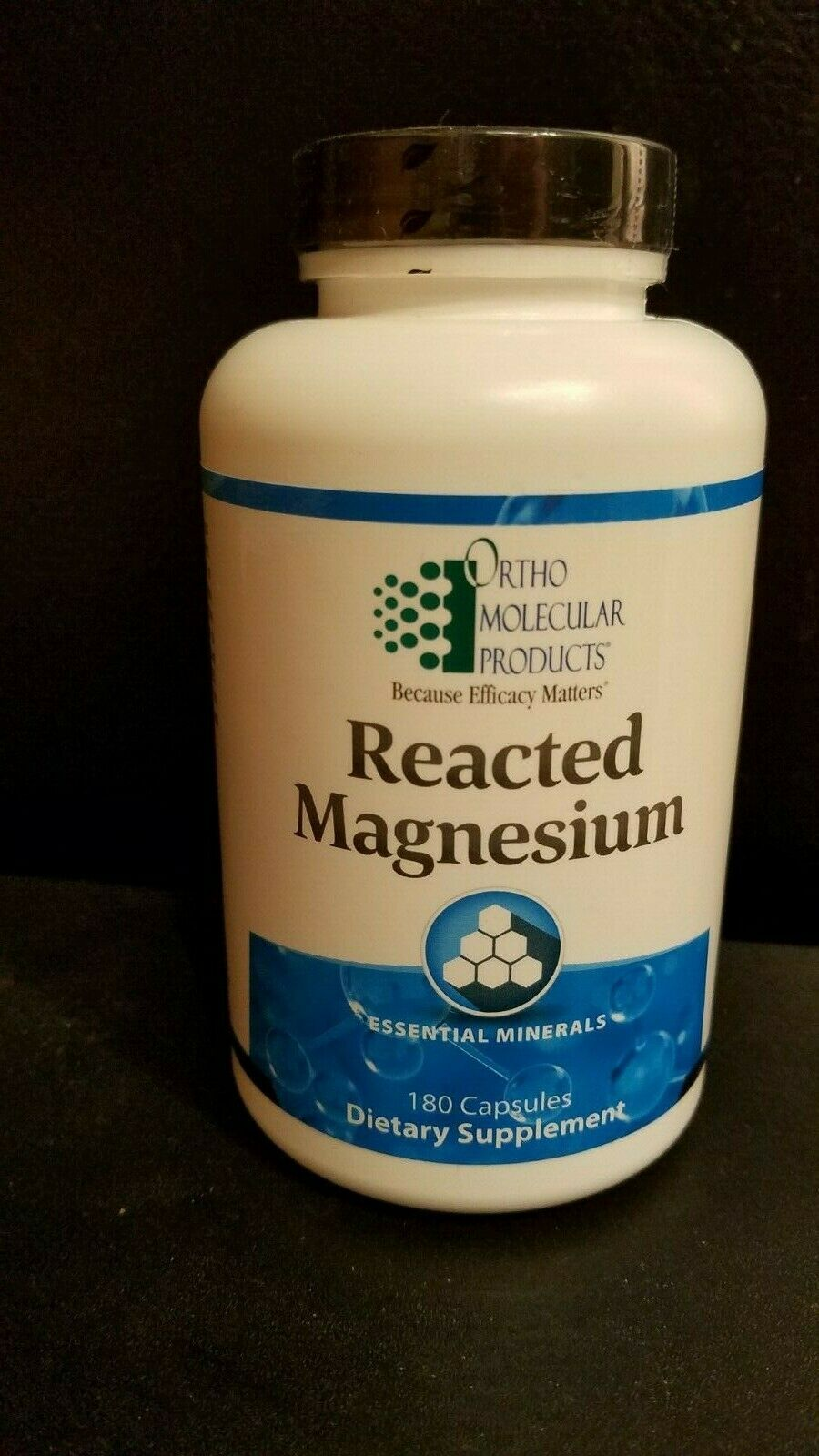 Ortho Molecular Reacted Magnesium 180 capsules Exp 09/21, Free Shipping