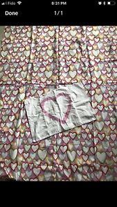 IKEA duvet cover hearts twin