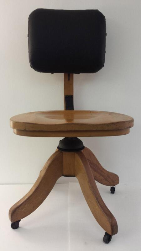 Oak Swivel Desk Chair EBay