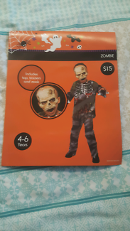 Zombie Halloween costume- size 4 to 6