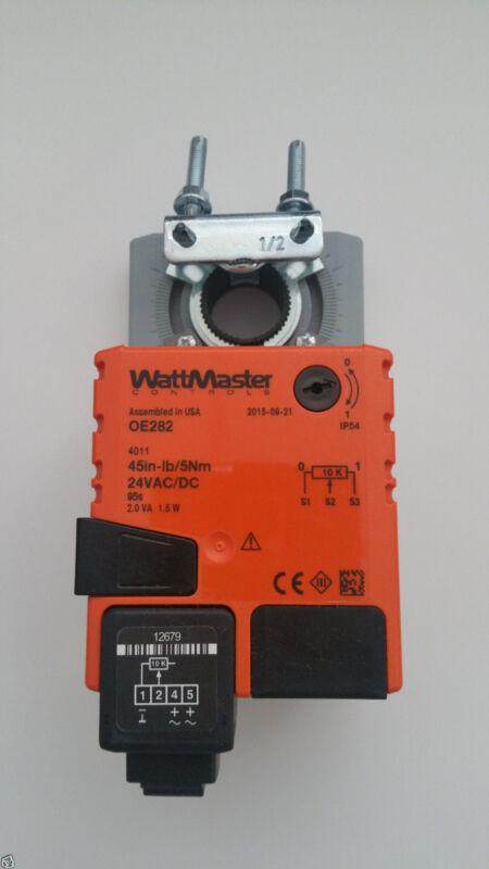 New Wattmaster OE282 HVAC Damper Actuator 24vac-dc 45in/5Nm
