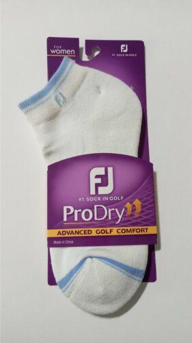 FJ Pro Dry Women Sox White/Light Blue 6-9 NEW