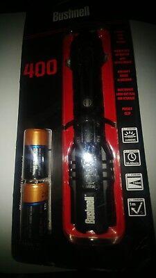(BRAND NEW Bushnell Pro 400 Lumens HIGH PERFORMANCE FLASHLIGHT CREE LED)