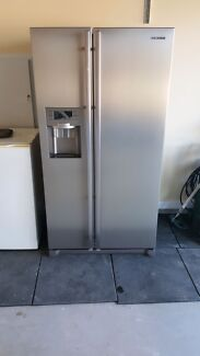 Samsung - 585L Side by Side Fridge, Ice + Water, Stainless Steel Harrington Park Camden Area Preview