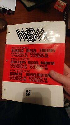Kubota Diesel Engine Workshop Service Manual D3000-b D3200-b V4000-b V4300-b