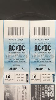 ACDC Tickets Aberfoyle Park Morphett Vale Area Preview