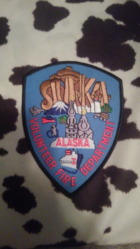 Sitka Alaska Fire Department Patch New Style