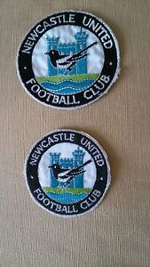Vintage-Newcastle-United-1960-1980-sew-on-badge-patch-3-or-3-1-2-NOS-FREE-P-P