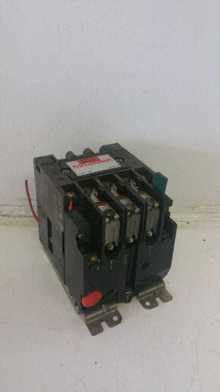 SYLVANIA T13U03A SIZE 00 CONTACTOR STARTER  600VAC 3PH 120V COIL **XLNT**