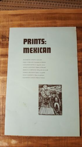 Faculty Press Portfolio - PRINTS: MEXICAN (8 Prints) - Circa 1965 - VERY SCARCE