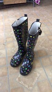 Polka Dot Rubber Rain boots