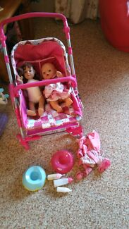Baby born plus extra doll, pram and potties Wilson Canning Area Preview