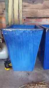 Large blue terracotta pots Corlette Port Stephens Area Preview