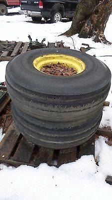Pair Of Firestone Tires Off John Deere 4430 Size 11.0-16 On Wheels