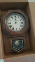 Bulova  Wall Clock with Pendulum and Digital Chimes - Barely Used