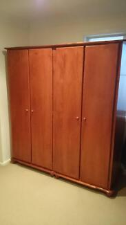 Pair of matching Timber wardrobes - internal shelf, full hanging Gordon Ku-ring-gai Area Preview