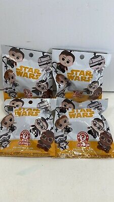 Funko Pop! Star Wars Solo Mystery Mini Collectible Plush Keychain Lot Of 4