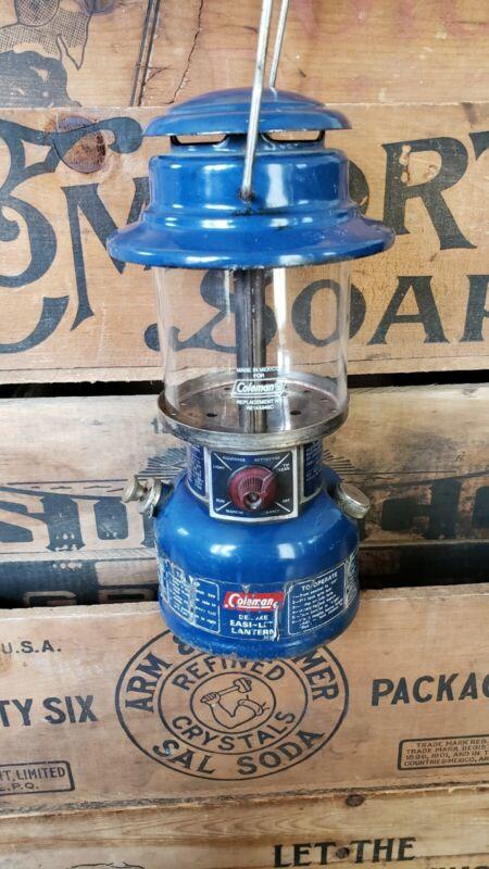 VTG Coleman 321 easy-lite Blue Lantern Camping 2/73