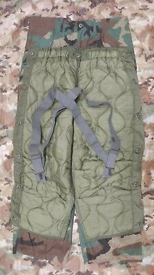 Used, M65 Woodland Cold Weather Field Pants w Liner and Suspenders NOS USGI Med Reg for sale  Madison