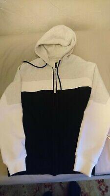 Burton Men's Hoodie Grey/Black/White Size Small