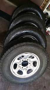 chrome wheels and tyres  215 75 15 Madeley Wanneroo Area Preview