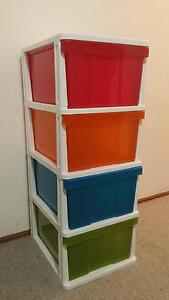 Large multi-color plastic 4 tier drawer Nowra Nowra-Bomaderry Preview