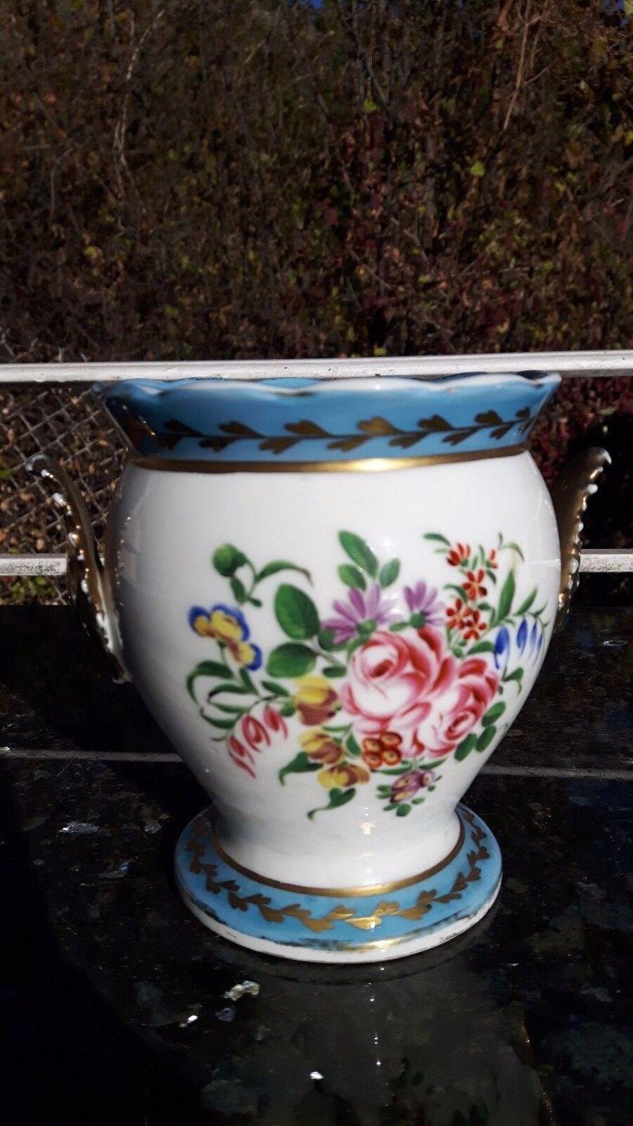 ancien et elegant beau petit cache pot d cor oiseaux et fleurs eur 60 00 picclick fr. Black Bedroom Furniture Sets. Home Design Ideas