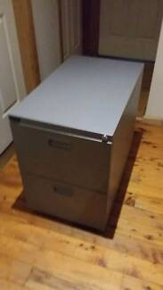 Filing Cabinet - Deep, two drawers, wheels