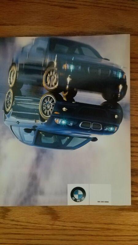 2001 BMW M3 Coupe Brochure E46 Color Sales Catalog 1st year M-3 US