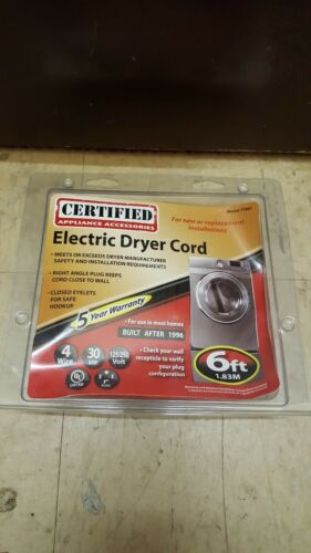 electric dryer cord 6 ft 77061 125