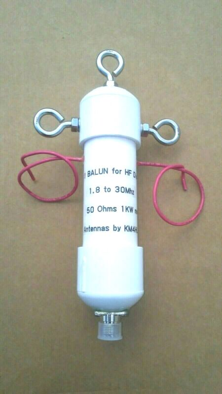 1:1 AIR CORE BALUN FOR HF ANTENNA DIPOLES 1.8 TO 30 MHZ 1KW 50 OHMS