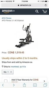 Afg elliptical 3.1AE Brand New