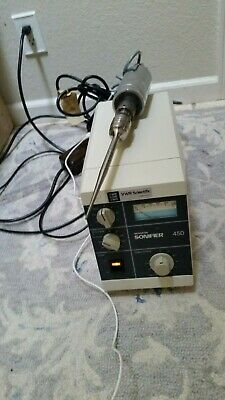Branson Digital 450 Sonifier Cell Disruptor W Converter 3mm Microtip Works