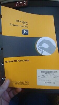 John Deere 2010 1010 Crawler Tractors Operators Manual Loaders Diesel Gasoline