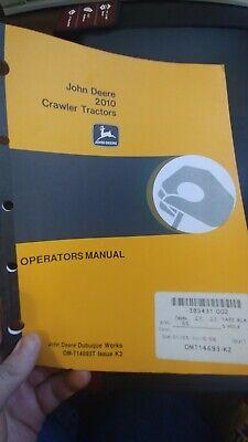 John Deere 2010 1010 Crawler Tractors Operators Manual Loaders Diesel Gasoline