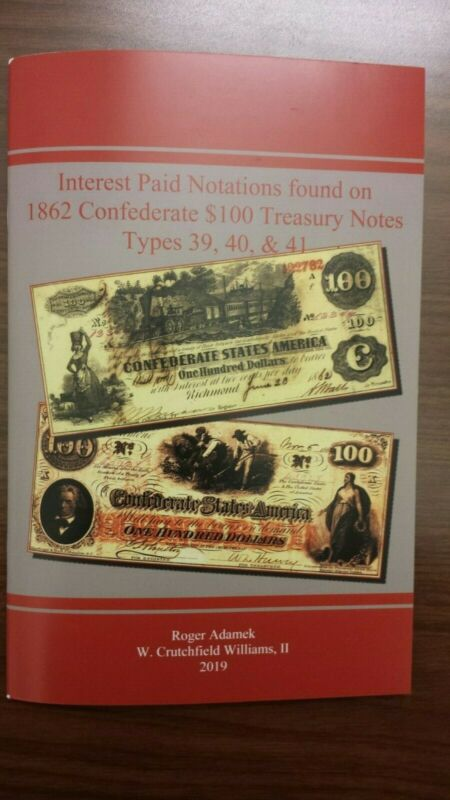 New Small Booklet of Interest Paid Notations found on T39, T40, and T41