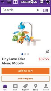 Tiny Love Take Along Mobile- in a excellent condition