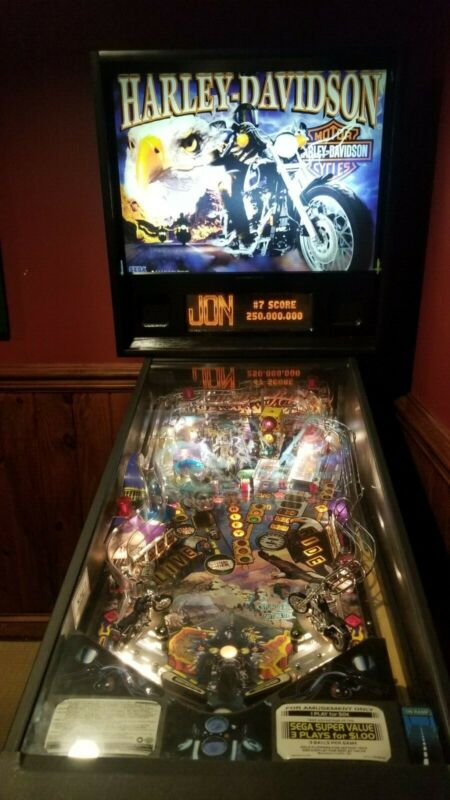 Harley Davidson 1st Edition and Mint Condition Pinball Machine - Perfect Gift!