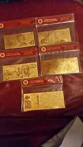 For sale 99.9%pure 24k gold banknotes collection Golden Bay Rockingham Area Preview